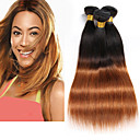 cheap One Pack Hair-3 bundles 8 26 brazilian straight virgin hair unprocessed wefts ombre 1b 30 color human hair