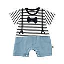 ieftine Set Îmbrăcăminte Bebeluși-Bebelus Unisex De Bază Dungi Fără manșon Poliester O - piesă Albastru piscină 90 / Copil