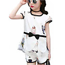 cheap Girls' Clothing Sets-Kids Girls' Active Print Print Short Sleeve Short Clothing Set