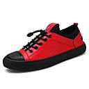 cheap Men's Sneakers-Men's Light Soles PU(Polyurethane) Fall Sneakers Black / Gray / Red