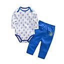 ieftine Set Îmbrăcăminte Bebeluși-Bebelus Unisex Activ Zilnic / Concediu Imprimeu Imprimeu Manșon Lung Lung Lung Bumbac Set Îmbrăcăminte Albastru piscină 59