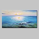 זול ציורים מופשטים-ציור שמן צבוע-Hang מצויר ביד - מופשט L ו-scape מודרני כלול מסגרת פנימית / בד מתוח