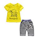 ieftine Seturi Îmbrăcăminte Băieți-Copil Băieți Pisica Imprimeu Manșon scurt Set Îmbrăcăminte
