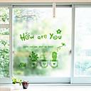 cheap Window Film & Stickers-Window Film & Stickers Decoration Matte / Contemporary Character PVC Window Sticker / Matte