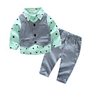 cheap Baby Boys' Clothing Sets-Baby Boys' Basic Color Block Long Sleeve Clothing Set / Toddler
