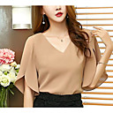 cheap Facial Care Devices-Women's Vintage Puff Sleeve Cotton T-shirt - Solid Colored Black & White, Tassel