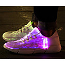 cheap Women's Slip-Ons & Loafers-Unisex Light Up Shoes Tulle Spring Comfort Sneakers White