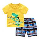 ieftine Pantaloni Băieți-Copil Băieți Leu Dungi / Carouri Manșon scurt Set Îmbrăcăminte
