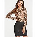 billige Mode Halskæde-Rund hals Dame - Leopard Wrap