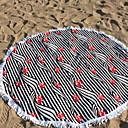 ieftine Prosop de Plajă-Calitate superioară Prosop de Plajă, Linii / Valuri Poli / Bumbac 1 pcs