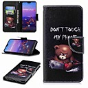 cheap Cell Phone Cases & Screen Protectors-Case For Huawei P20 lite P20 Pro Card Holder Wallet with Stand Flip Pattern Full Body Cases Word / Phrase Hard PU Leather for Huawei P20