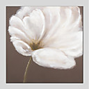 tanie Obrazy: motyw roślinny/botaniczny-Hang-Malowane obraz olejny Ręcznie malowane - Kwiatowy / Roślinny Nowoczesny Brezentowy