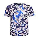 preiswerte Edelstahl-Herrn Einfarbig / Tier - Street Schick / Übertrieben T-shirt, Rundhalsausschnitt Katze / Kurzarm