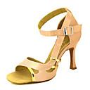 baratos Sapatos de Dança Latina-Mulheres Sapatos de Dança Latina / Sapatos de Salsa Cetim Sandália / Salto Presilha / Cadarço de Borracha Salto Personalizado Personalizável Sapatos de Dança Amarelo / Fúcsia / Púrpura / Espetáculo