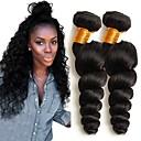 olcso Természetes színű póthajak-Maláj haj Hullámos Emberi haj tincsek 4 csomópont Emberi haj sző Extention / Hot eladó Fekete Human Hair Extensions Összes