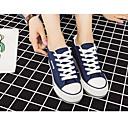 זול נעלי ספורט לנשים-בגדי ריקוד נשים קנבס סתיו נוחות נעלי ספורט מטפסים שחור / כחול כהה / אדום