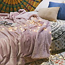 cheap Blankets & Throws-Coral fleece, Reactive Print Solid Colored Cotton / Polyester Blankets