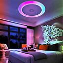 זול נורות שיטפון-1pc 36W 408 נוריות רמקול בלוטוס / שלט רחוק / Spottivalo תאורת תקרה לבן חם / לבן קר / לבן טבעי 110-240V בית\משרד / סלון\פינת אוכל