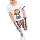 ieftine Seturi Îmbrăcăminte Băieți-Copii Băieți Activ Imprimeu Imprimeu Manșon scurt Bumbac Set Îmbrăcăminte