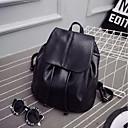 お買い得  バックパック-女性用 バッグ PU バックパック ボタン / ジッパー ブラック