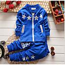 ieftine Set Îmbrăcăminte Băieți Bebeluși-Bebelus Băieți De Bază Zilnic Geometric Manșon Lung Regular Bumbac Set Îmbrăcăminte Bleumarin 100 / Copil