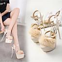 ieftine Sandale de Damă-Pentru femei PU Vară Confortabili Sandale Platformă Negru / Migdală