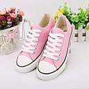 cheap Women's Sneakers-Women's Canvas Spring & Summer Comfort Sneakers Flat Heel Round Toe Black / Blue / Pink