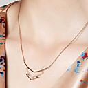 ieftine Colier la Modă-Pentru femei Coliere cu Pandativ / Lănțișoare - 18K Placat cu Aur, S925 Sterling Silver Plin de graţie Auriu 40 cm Coliere Bijuterii Pentru Zilnic, Festival