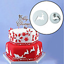 cheap Bakeware-2pcs Christmas EIK Fondant Cake Mold Cookie Cutter Kitchen Bake Tool
