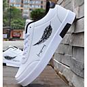 tanie Adidasy męskie-Męskie Komfortowe buty PU Zima Adidasy Czarny / czarny / biały / Biały / Niebieski