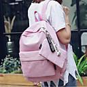 povoljno Intermediate School Bags-Žene Torbe Platno ruksak Patent-zatvarač Crn / Blushing Pink / Svjetlo siva