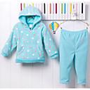 povoljno Haljinice za bebe-Dijete Djevojčice Na točkice Dugih rukava Komplet odjeće