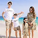 ieftine Set Îmbrăcăminte De Familie-Familie Uite Bloc Culoare Manșon scurt Set Îmbrăcăminte