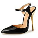 ieftine Sandale de Damă-Pentru femei Pantofi PU Vară Pantof cu Berete Sandale Toc Stilat Vârf ascuțit Negru / Argintiu / Rosu / Nuntă / Party & Seară
