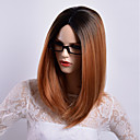 cheap Synthetic Wigs-Synthetic Wig Straight Side Part Synthetic Hair Party / Synthetic / Ombre Hair Black / Dark Brown Gold Blonde Ombre Wig Women's Mid Length Capless / African American Wig / Yes / For Black Women