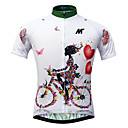 cheap Cycling Jersey & Shorts / Pants Sets-Mysenlan Women's Short Sleeve Cycling Jersey - White Floral / Botanical Bike Jersey, Quick Dry, Ultraviolet Resistant, Breathable / Stretchy / Italy Imported Ink / Breathable Armpits