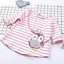 tanie Sukienki dla dziewczynek-Brzdąc Dla dziewczynek Moda miejska Prążki Długi rękaw Bawełna T-shirt Rumiany róż 110