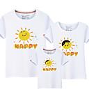 ieftine Set Îmbrăcăminte De Familie-Copii Familie Uite Activ / De Bază Mată / Scrisă Imprimeu Manșon scurt Bumbac Tricou