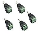 halpa Lamppu Pohjat ja liittimet-5pcs Strip Light lisävaruste / DC-liittimellä Sähköliitäntä Muovi LED Strip -valolle