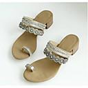 ieftine Sandale de Damă-Pentru femei Pantofi Microfibre Vară Confortabili Sandale Toc Îndesat Argintiu