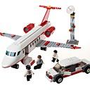 זול כלי צעצוע-GUDI אבני בניין 334 pcs כלי טיס הפגת מתחים וחרדה / אינטראקציה בין הורים לילד מטוס מתנות
