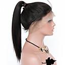olcso Emberi hajból készült parókák-Remy haj Tüll homlokrész Csipke eleje Paróka Göndör Yaki Straight Paróka 150% 180% Haj denzitás Természetes hajszálvonal Afro-amerikai paróka 100% kézi csomózású Női Közepes Hosszú Emberi hajból
