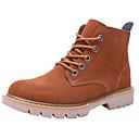 cheap Women's Sandals-Unisex Shoes Cowhide Spring & Summer Combat Boots Boots Flat Heel Brown / Light Brown / Khaki