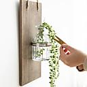 baratos Decoração de parede-Vaso / Criativo Decoração de Parede De madeira / vidro Europeu / Pastoril Arte de Parede, Tapeçarias Decoração