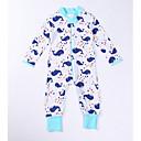 ieftine Set Îmbrăcăminte Bebeluși-Bebelus Unisex De Bază Imprimeu Manșon Lung Bumbac Salopetă Alb 80 / Copil