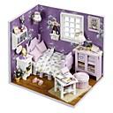 billige Puslespill i tre-Dukkehus med LED lys Romantikk 1 pcs Deler Teenager Gave