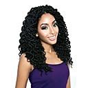 "cheap Hair Braids-Braiding Hair Curly Faux Locs Synthetic Hair 1 Piece, 20 roots / pack Hair Braids Black 18"" Women / Hot Sale / Dreadlock Extensions School / Date / Festival African Braids"