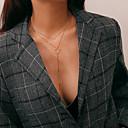 hesapli Moda Kolyeler-Kadın's Katmanlı Uçlu Kolyeler / katmanlı Kolyeler - Şık, Klasik, Vintage Altın, Gümüş 35+10 cm Kolyeler 1pc Uyumluluk Doğumgünü, Günlük