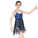 abordables Ropa de Baile para Niños-Ballet Vestidos Mujer / Chica Rendimiento Elástico / Encaje / Licra Encaje / Fruncido / Combinación Sin Mangas Cintura Alta Joyería de Pelo / Vestido