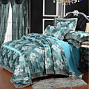 cheap Solid Duvet Covers-Duvet Cover Sets Luxury Polyster Printed & Jacquard 4 Piece